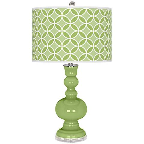 Lime Rickey Circle Rings Apothecary Table Lamp