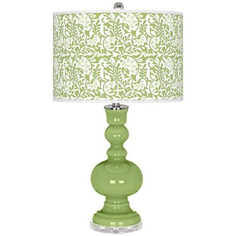 Lime Rickey Gardenia Apothecary Table Lamp