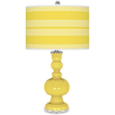 Lemon Twist Bold Stripe Apothecary Table Lamp