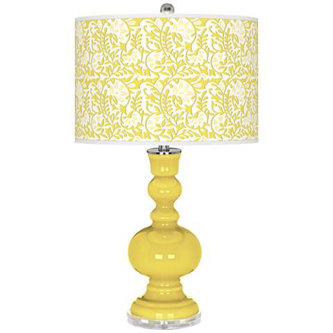 Lemon Twist Gardenia Apothecary Table Lamp