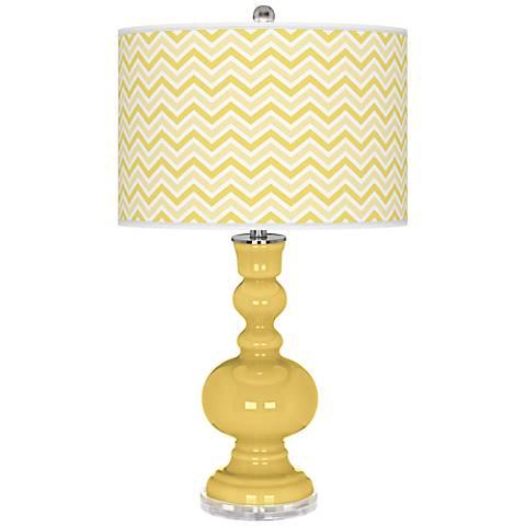 Daffodil Narrow Zig Zag Apothecary Table Lamp