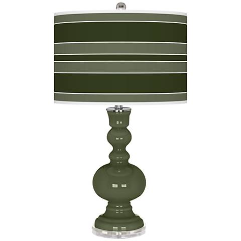 Secret Garden Bold Stripe Apothecary Table Lamp