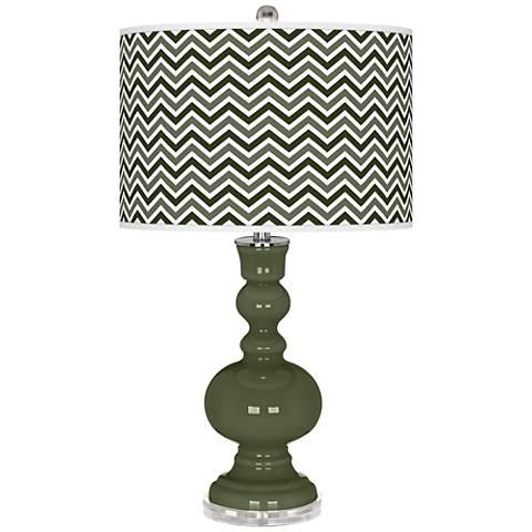 Secret Garden Narrow Zig Zag Apothecary Table Lamp