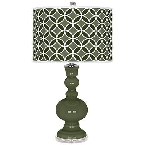 Secret Garden Circle Rings Apothecary Table Lamp