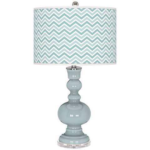 Rain Narrow Zig Zag Apothecary Table Lamp