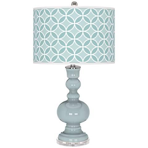 Rain Circle Rings Apothecary Table Lamp