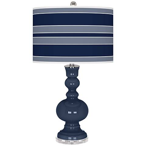 Naval Bold Stripe Apothecary Table Lamp
