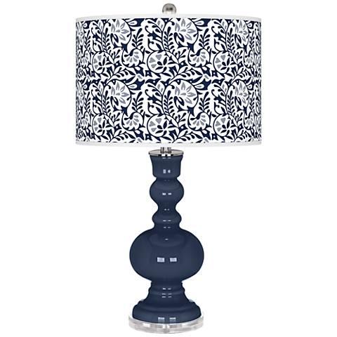 Naval Gardenia Apothecary Table Lamp