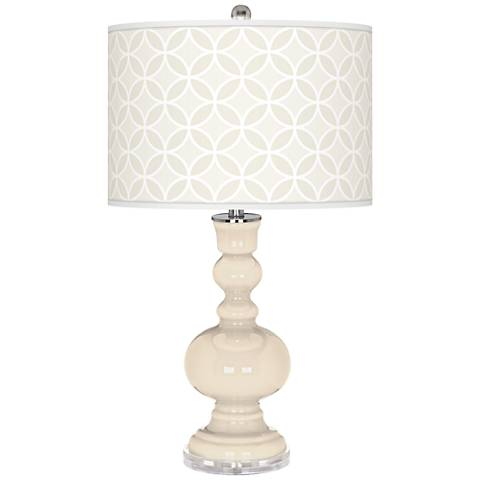Steamed Milk Circle Rings Apothecary Table Lamp