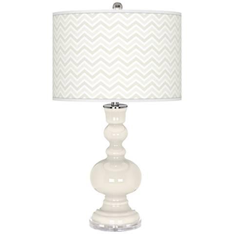 West Highland White Narrow Zig Zag Apothecary Table Lamp