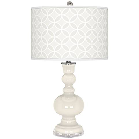 West Highland White Circle Rings Apothecary Table Lamp