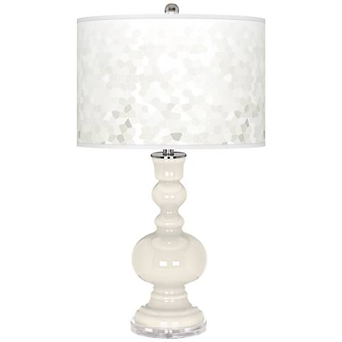 West Highland White Mosaic Giclee Apothecary Table Lamp