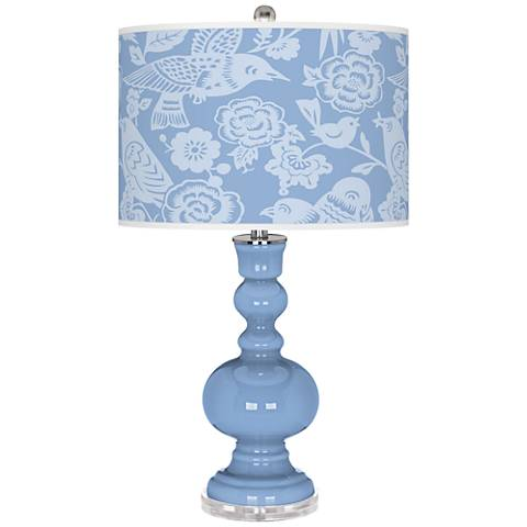 Placid Blue Aviary Apothecary Table Lamp