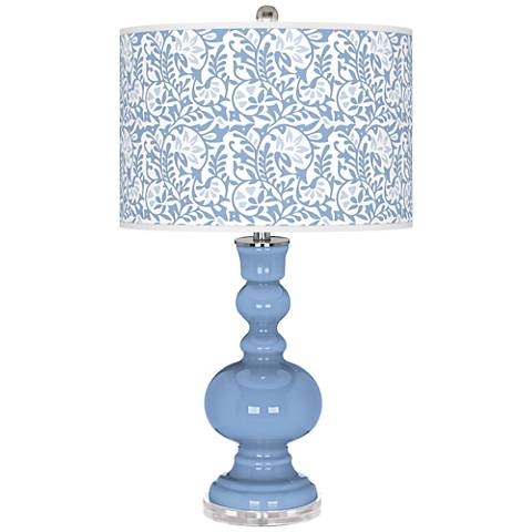 Placid Blue Gardenia Apothecary Table Lamp