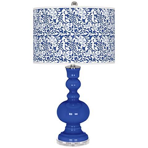 Dazzling Blue Gardenia Apothecary Table Lamp