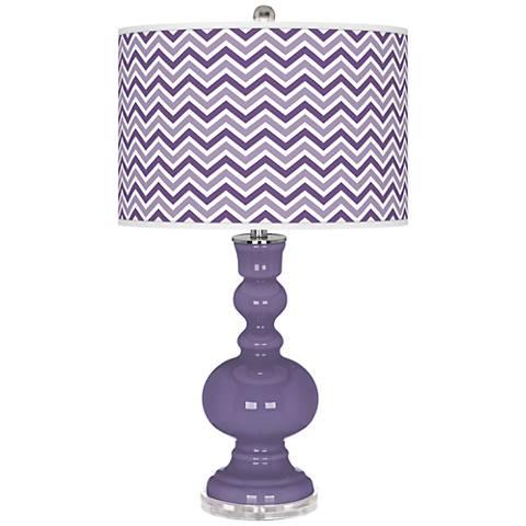 Purple Haze Narrow Zig Zag Apothecary Table Lamp