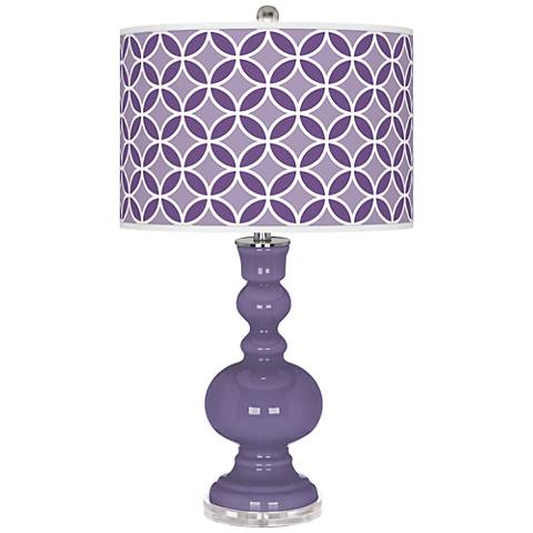 Purple Haze Circle Rings Apothecary Table Lamp