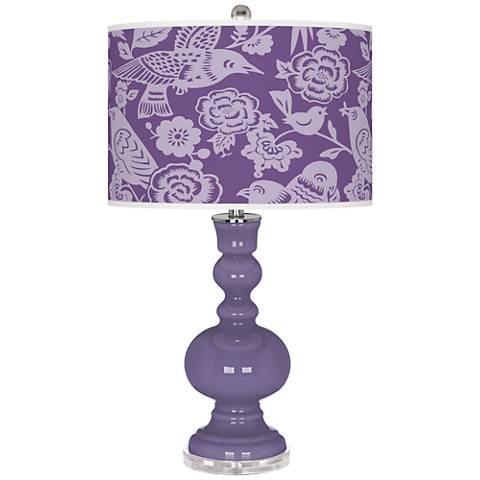 Purple Haze Aviary Apothecary Table Lamp