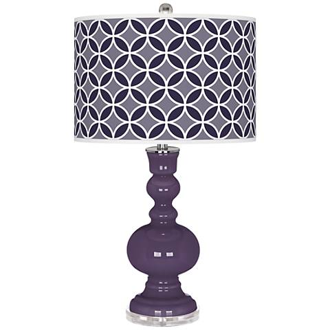 Quixotic Plum Circle Rings Apothecary Table Lamp