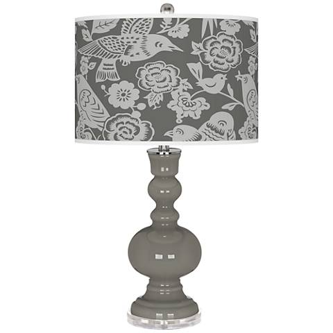 Gauntlet Gray Aviary Apothecary Table Lamp