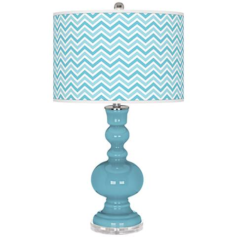 Nautilus Narrow Zig Zag Apothecary Table Lamp