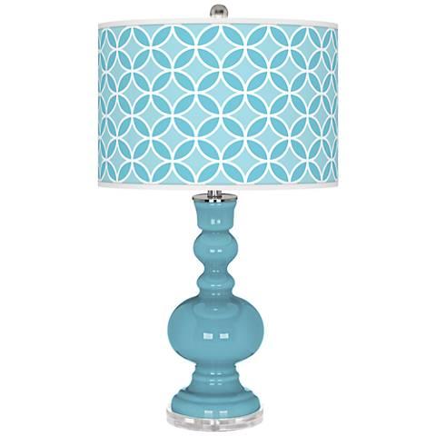 Nautilus Circle Rings Apothecary Table Lamp