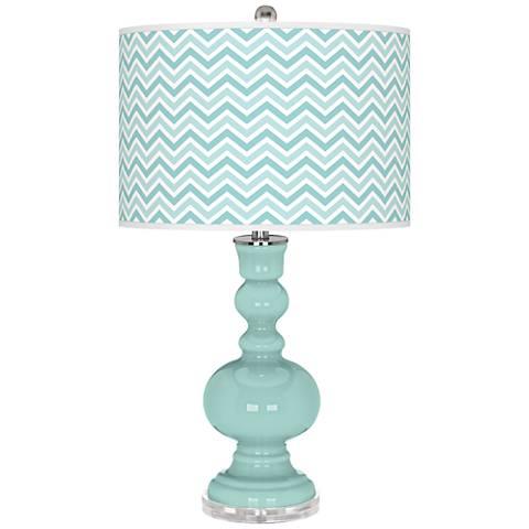 Cay Narrow Zig Zag Apothecary Table Lamp