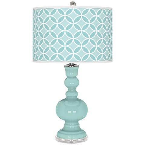 Cay Circle Rings Apothecary Table Lamp