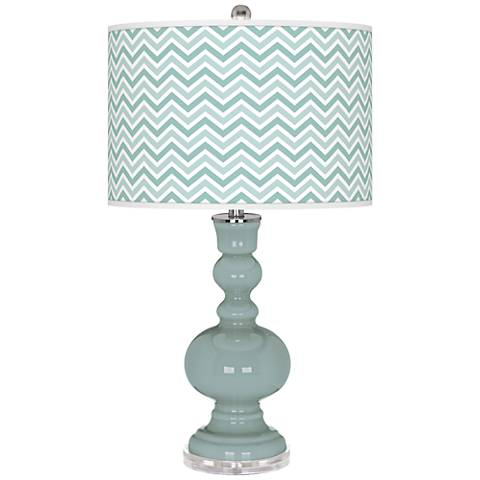 Aqua-Sphere Narrow Zig Zag Apothecary Table Lamp