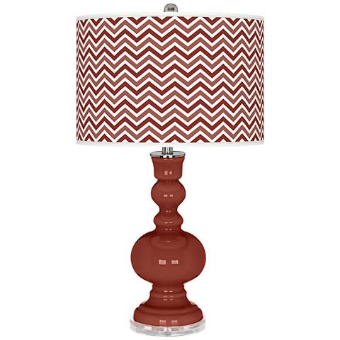 Madeira Narrow Zig Zag Apothecary Table Lamp