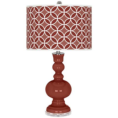 Madeira Circle Rings Apothecary Table Lamp