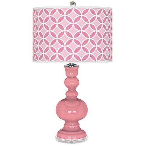 Haute Pink Circle Rings Apothecary Table Lamp
