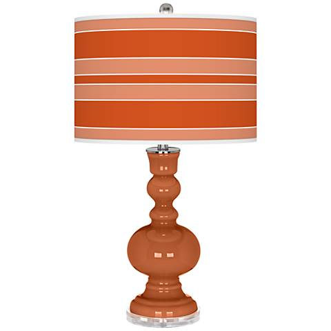 Robust Orange Bold Stripe Apothecary Table Lamp