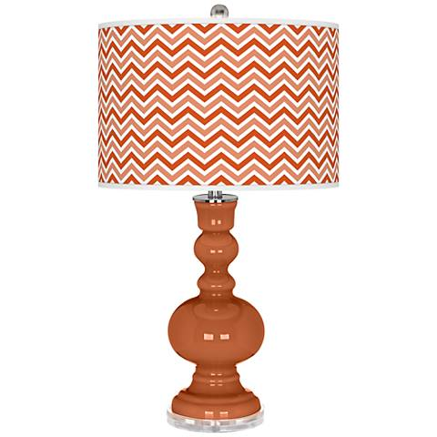 Robust Orange Narrow Zig Zag Apothecary Table Lamp