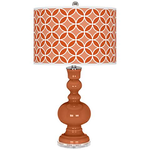 Robust Orange Circle Rings Apothecary Table Lamp