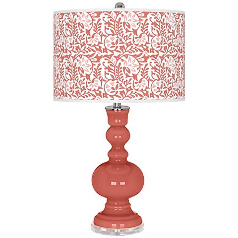 Coral Reef Gardenia Apothecary Table Lamp