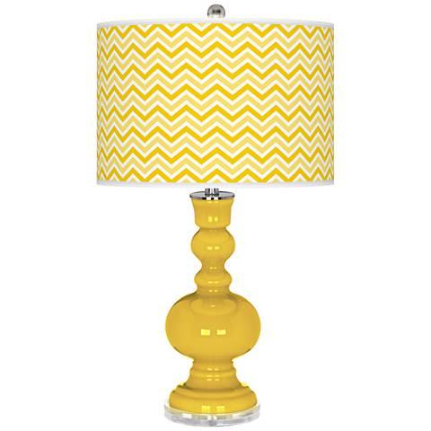 Citrus Narrow Zig Zag Apothecary Table Lamp