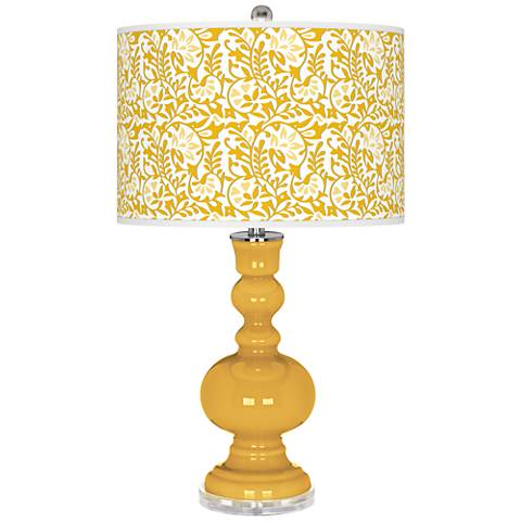 Goldenrod Gardenia Apothecary Table Lamp