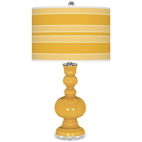 Goldenrod Bold Stripe Apothecary Table Lamp