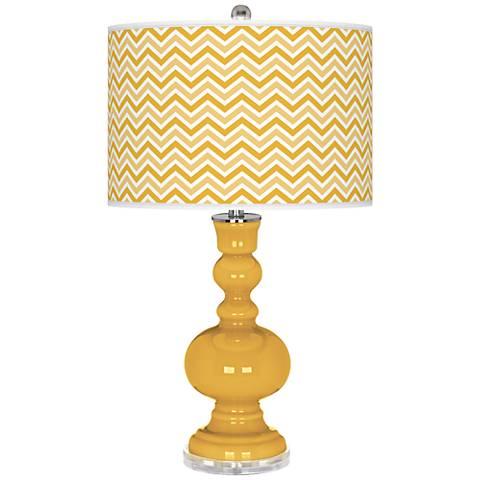 Goldenrod Narrow Zig Zag Apothecary Table Lamp