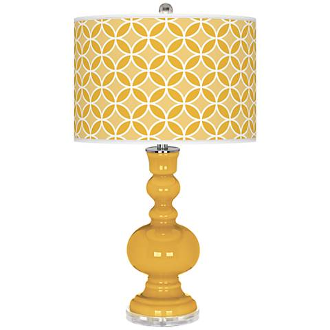 Goldenrod Circle Rings Apothecary Table Lamp