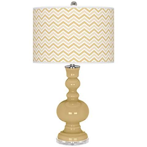 Humble Gold Narrow Zig Zag Apothecary Table Lamp
