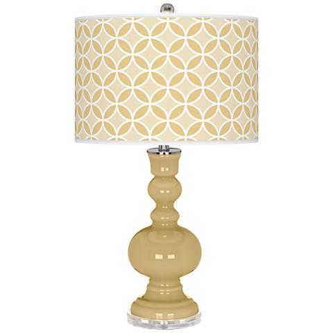 Humble Gold Circle Rings Apothecary Table Lamp