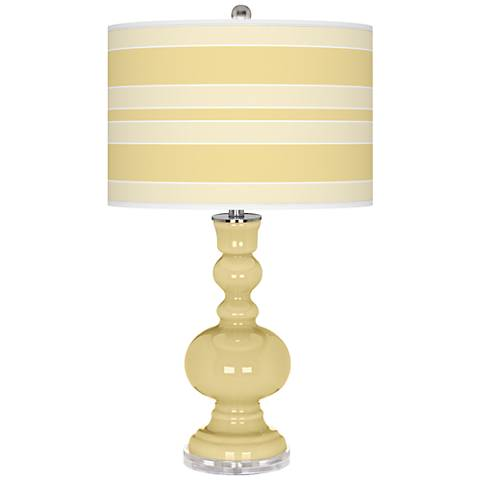 Butter Up Bold Stripe Apothecary Table Lamp