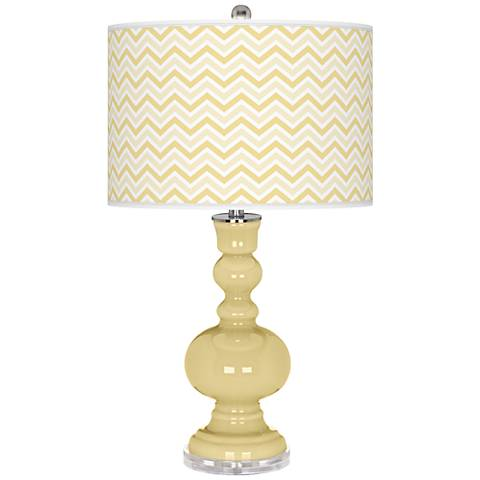 Butter Up Narrow Zig Zag Apothecary Table Lamp