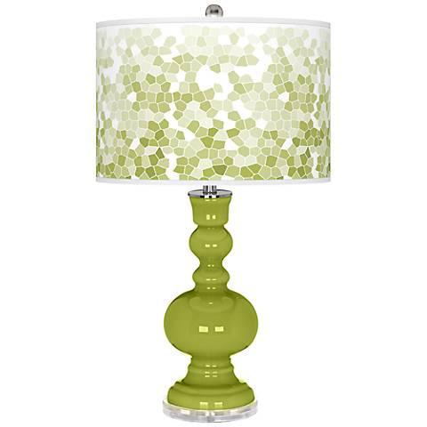 Parakeet Mosaic Giclee Apothecary Table Lamp