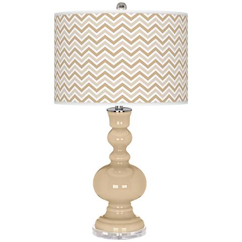 Colonial Tan Narrow Zig Zag Apothecary Table Lamp
