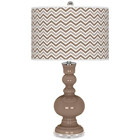 Mocha Narrow Zig Zag Apothecary Table Lamp