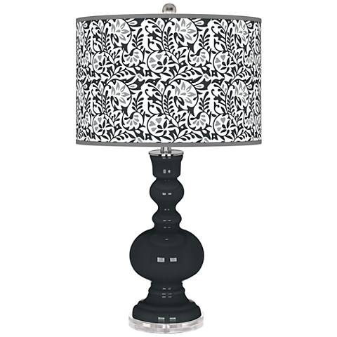 Black of Night Gardenia Apothecary Table Lamp