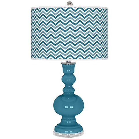 Great Falls Narrow Zig Zag Apothecary Table Lamp